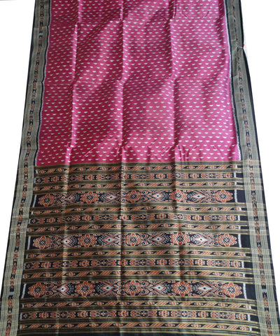 Exclusive Fandango And Black Khandua silk Saree