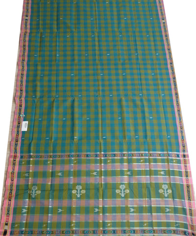 Traditional Multi colour And Baby Pink Barhampuri Cotton Saree