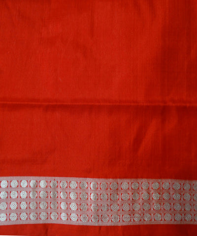 White FerrEriRed Sambalpuri Ikat Silk Saree