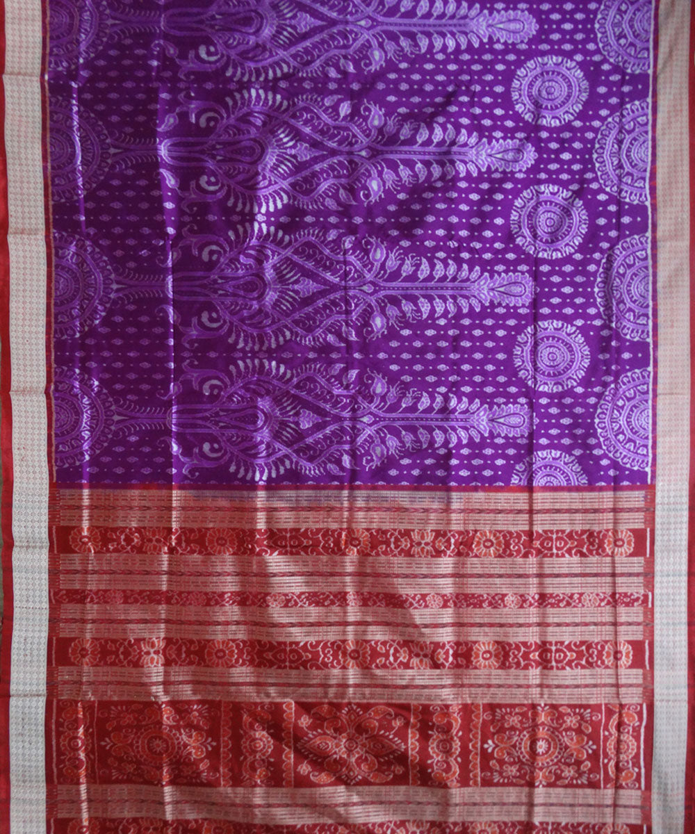 Dark Violet Silk Saree