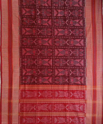 Falu Red cotton Saree