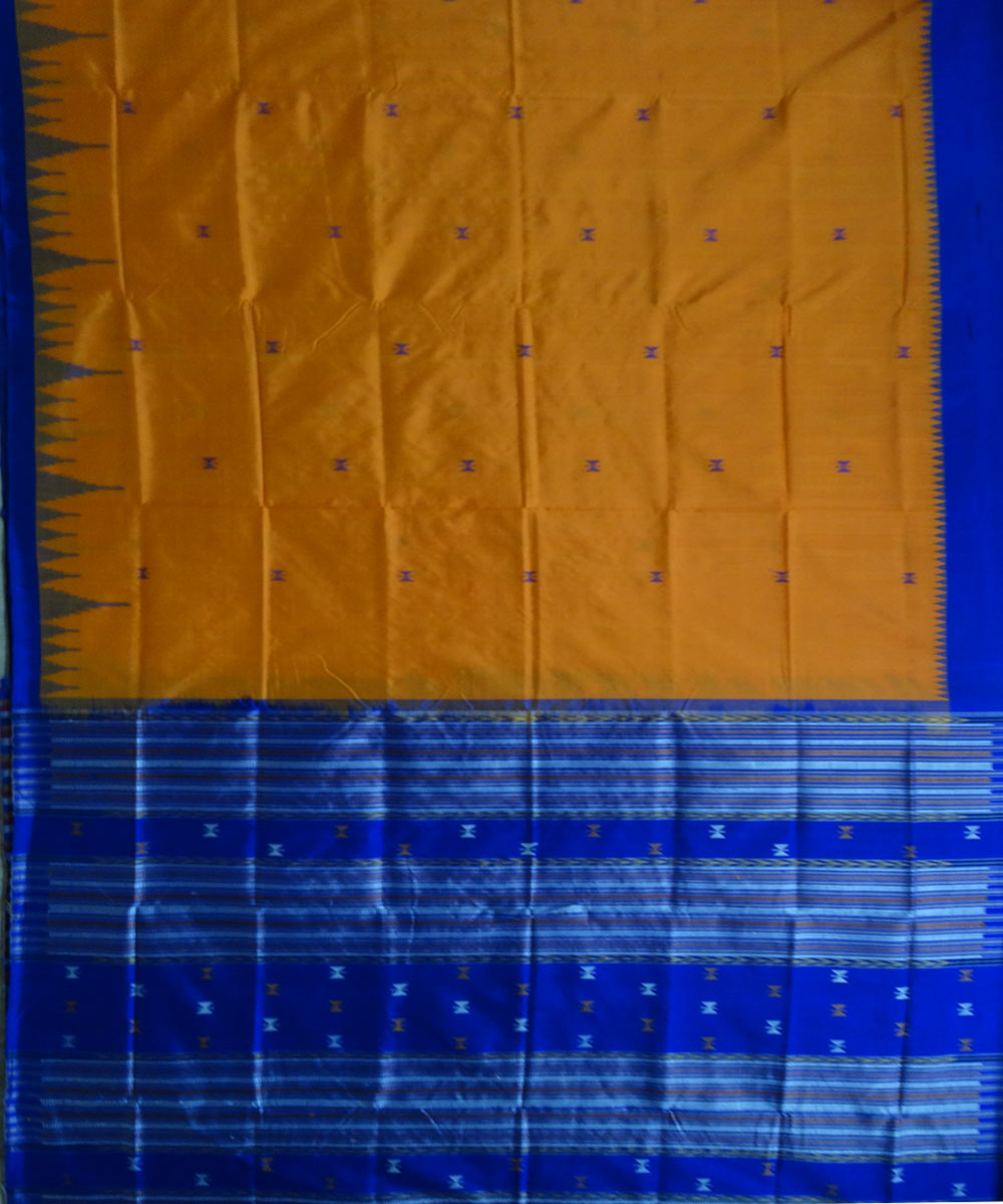Deep Saffron Silk Saree