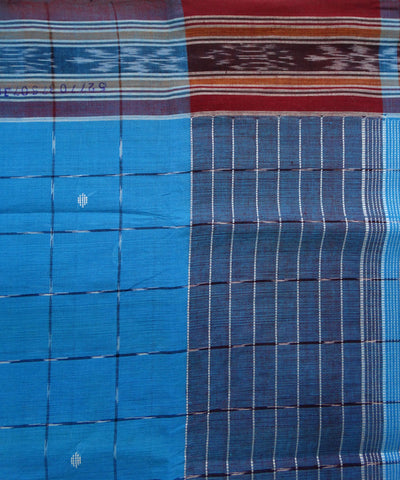French Blue Cotton Saree