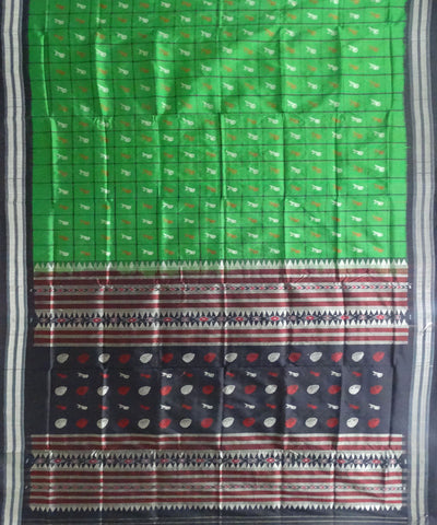 Bottle Green Silk Saree