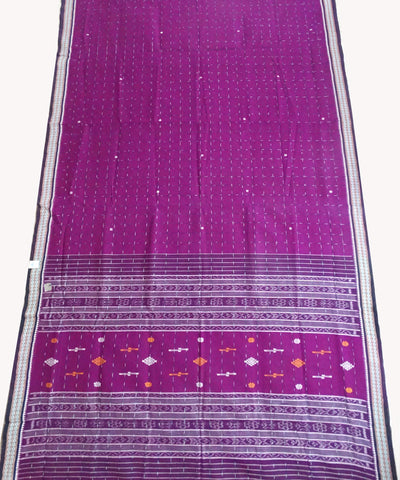 Deep magenta Berhampuri Cotton Saree