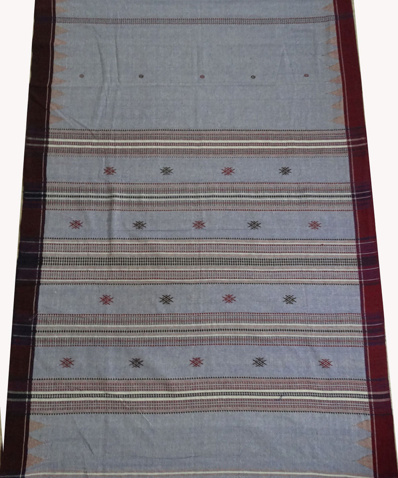 Sky Blue Natural dyed Kotpad Cotton Saree