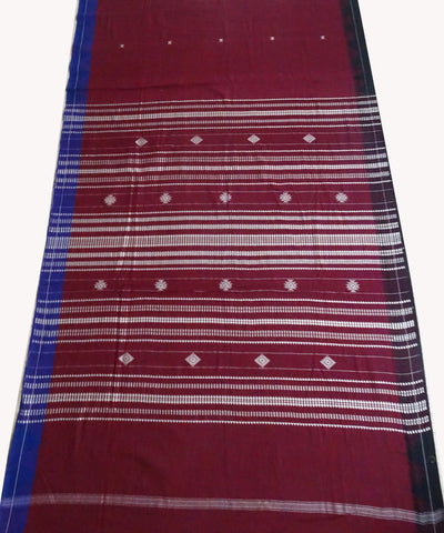 French Wine Natural dyed Kotpad Cotton Saree`