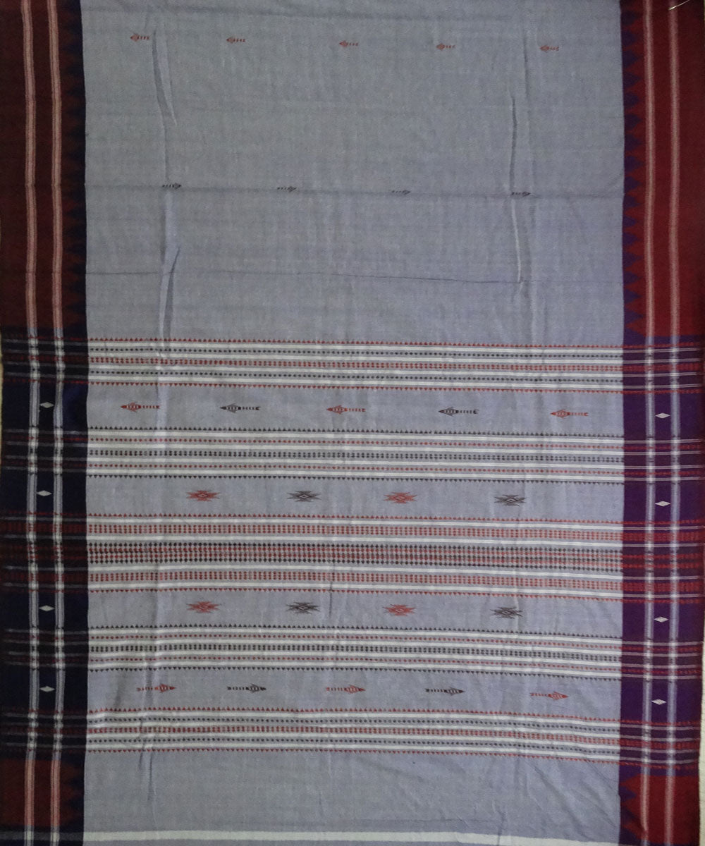 Blue-Gray Natural dyed Kotpad Cotton Saree