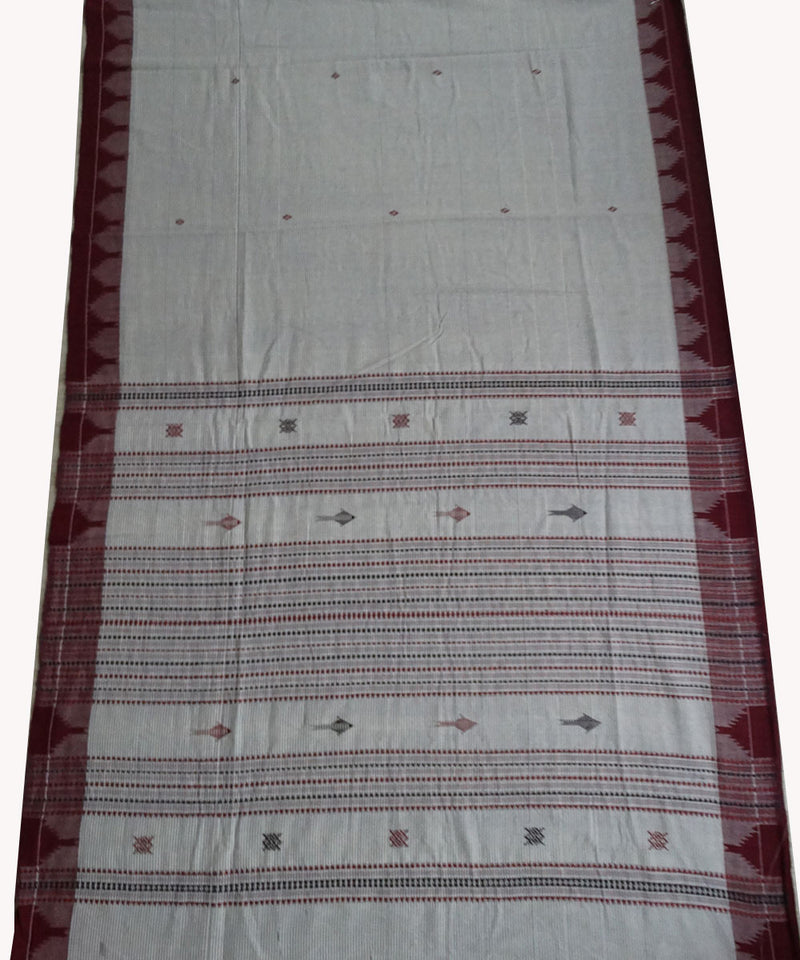 Off white Natural dyed Kotpad Cotton Saree