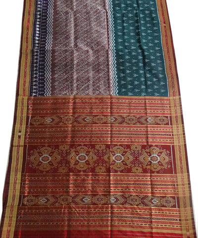 Green And Lavender Nuapatna Ikat silk Saree