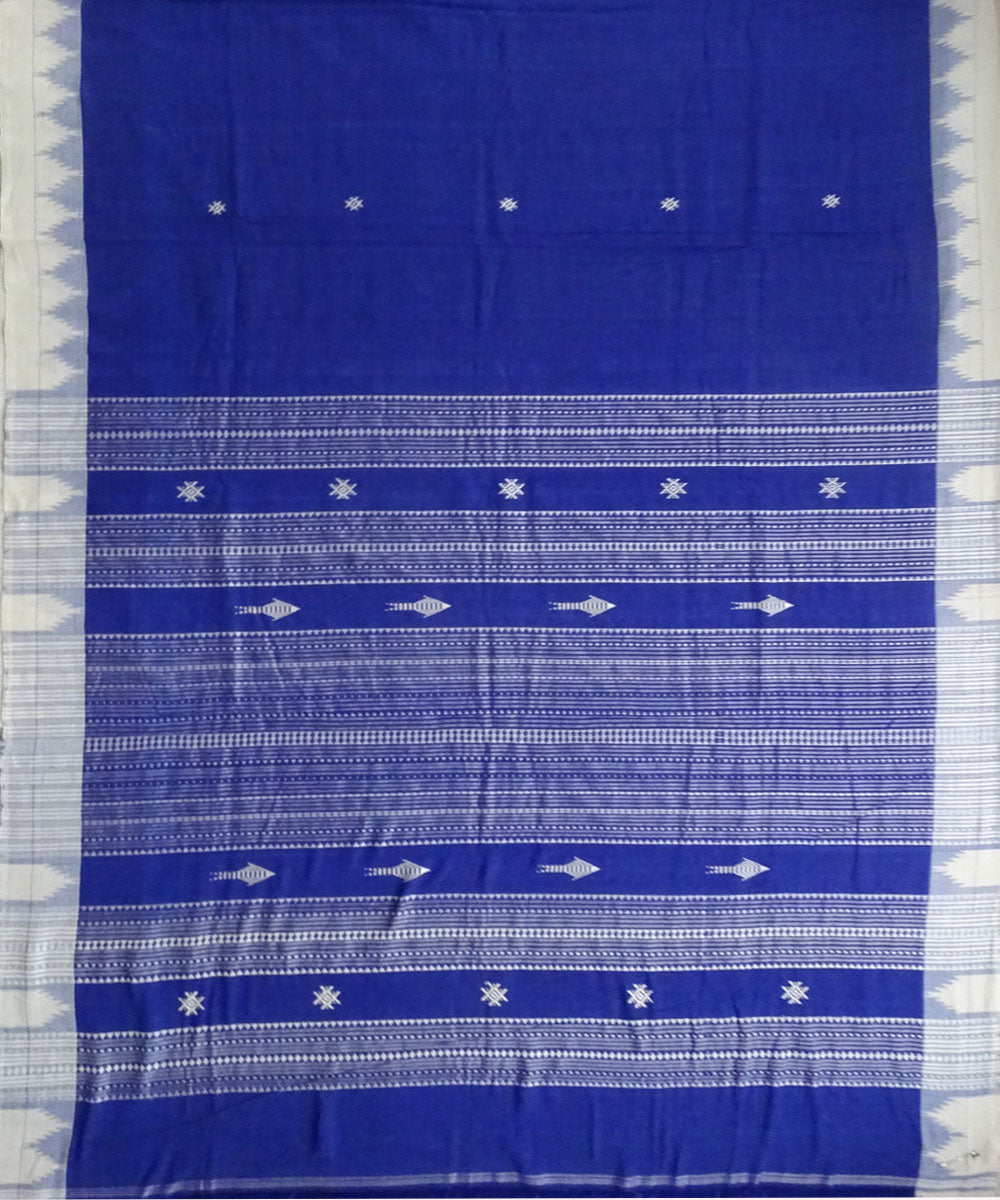 Egyptian Blue Natural dyed Kotpad Cotton Saree