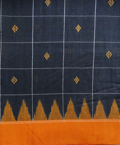 Black eri silk saree