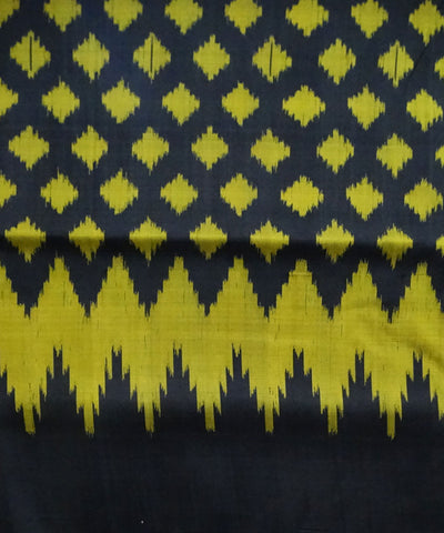 Khandua Black Handloom Ikat Silk Saree