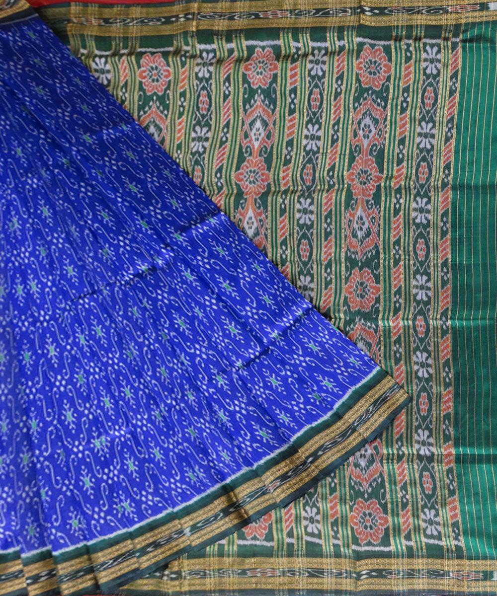 Electric Ultramarine Khandua Silk Saree