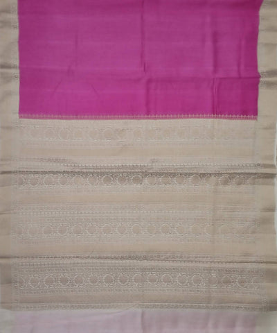 Banarasi Purple and Beige Handloom Silk Saree