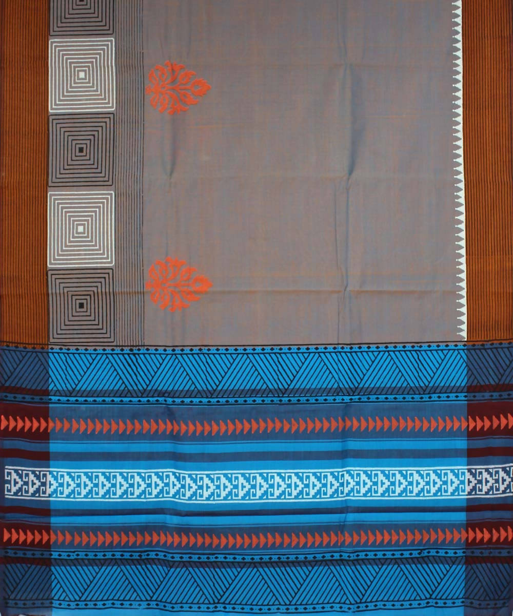 Multicolor Handwoven Tamil Nadu Cotton Saree