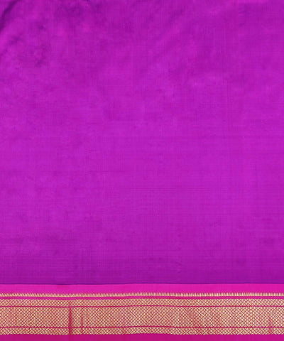 Purple Handloom Paithani Silk Saree