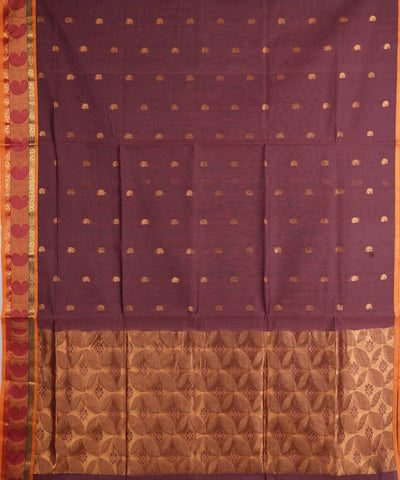 Brown Venkatagiri Handloom Cotton Saree