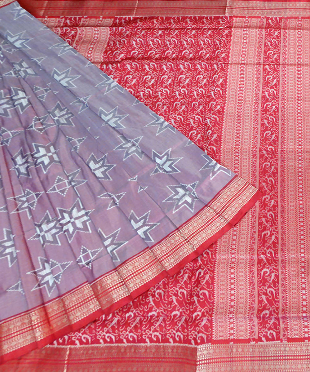 Light Pink Sambalpuri Handloom Silk Saree