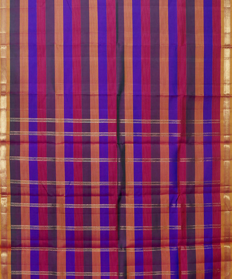 Striped Handloom Kancheepuram Silk Saree