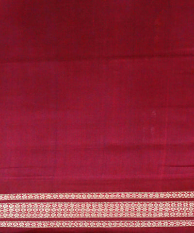 Dark Cerulean Handloom Bomkai Cotton Saree
