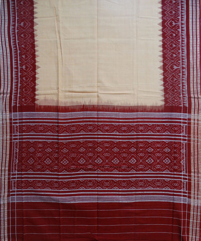 Beautiful Traditional Maroon And Sandal Traditional Ikat tie And dye Cotton Dress Material