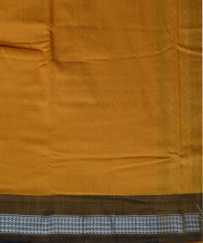 Beautiful Traditional Black And Dark Yellow tie And dye Cotton Bomkai Dress Material
