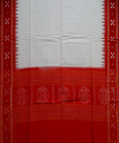 Beautiful Traditional Dark Red And Off White Pasapali And Traditional Ikat tie And dye Cotton Dress Material