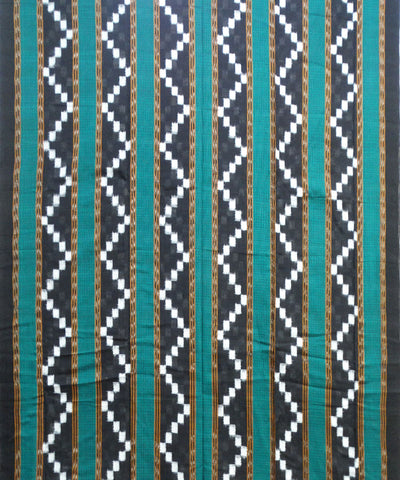 Black Green Pasapali Sambalpuri Cotton Suit