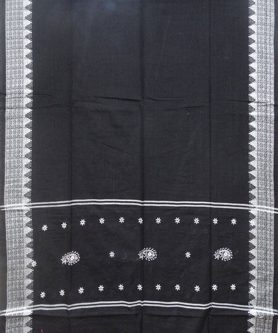 White Black cotton Dress Material