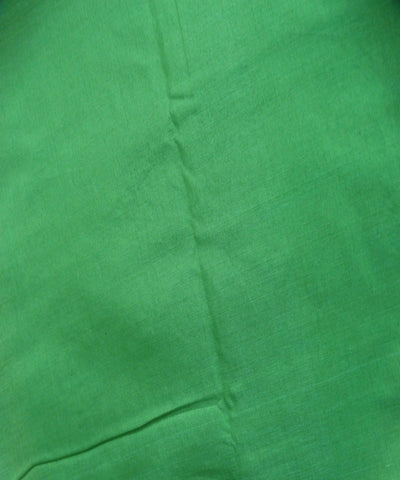Puce Green cotton Dress Material