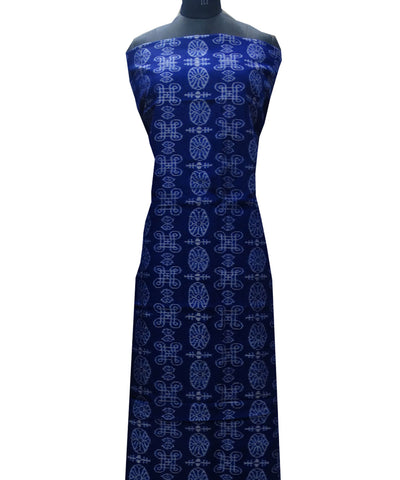 Ink Blue cotton Dress Material