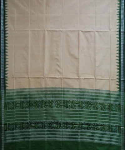 Army Green Handloom Sambalpuri Silk Suit Set