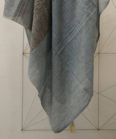 Blue Grey Handwoven Cotton Scarf