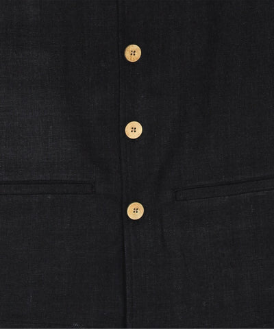 Black noil silk nehru jacket