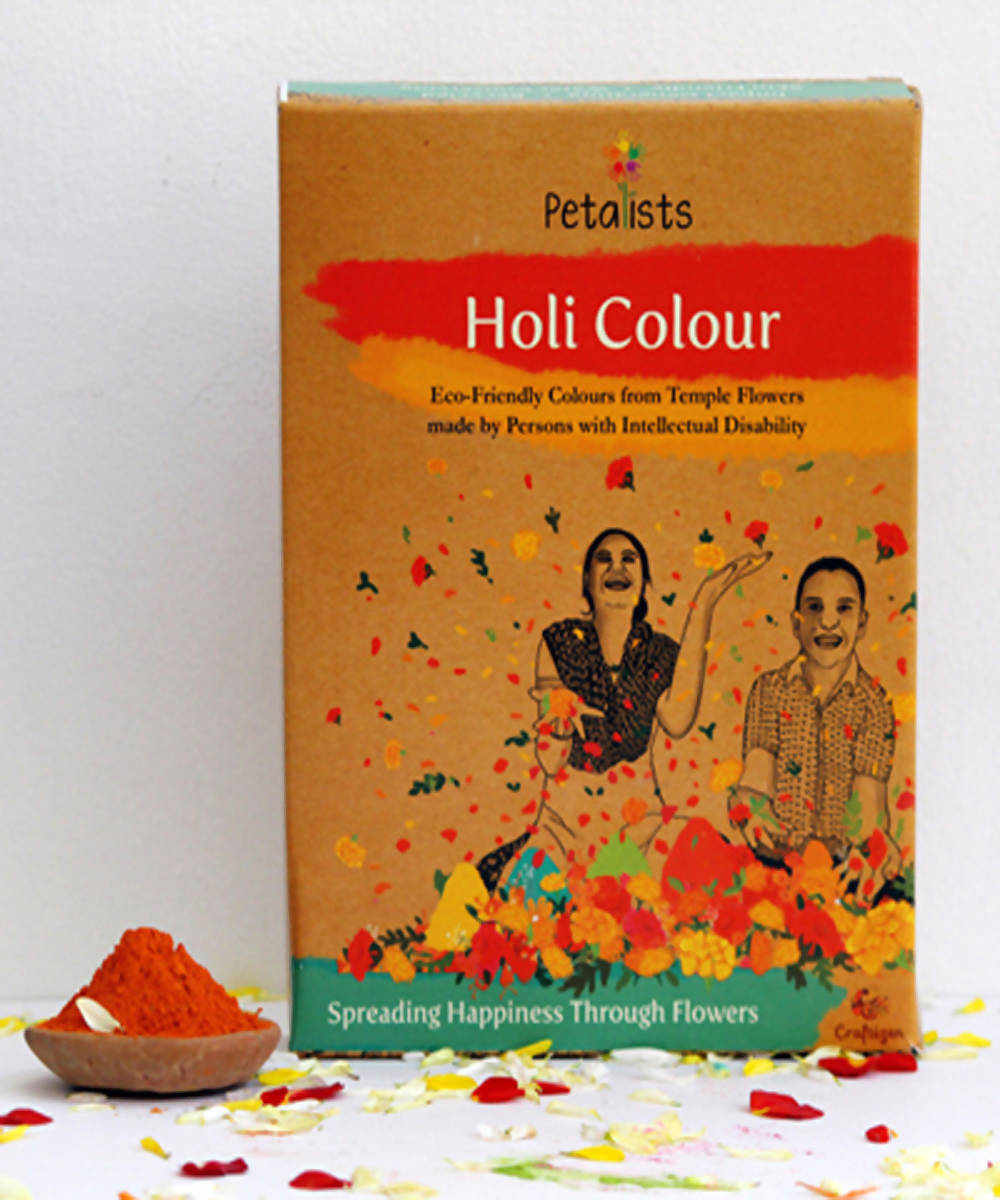 Petalists eco friendly holi colour orange