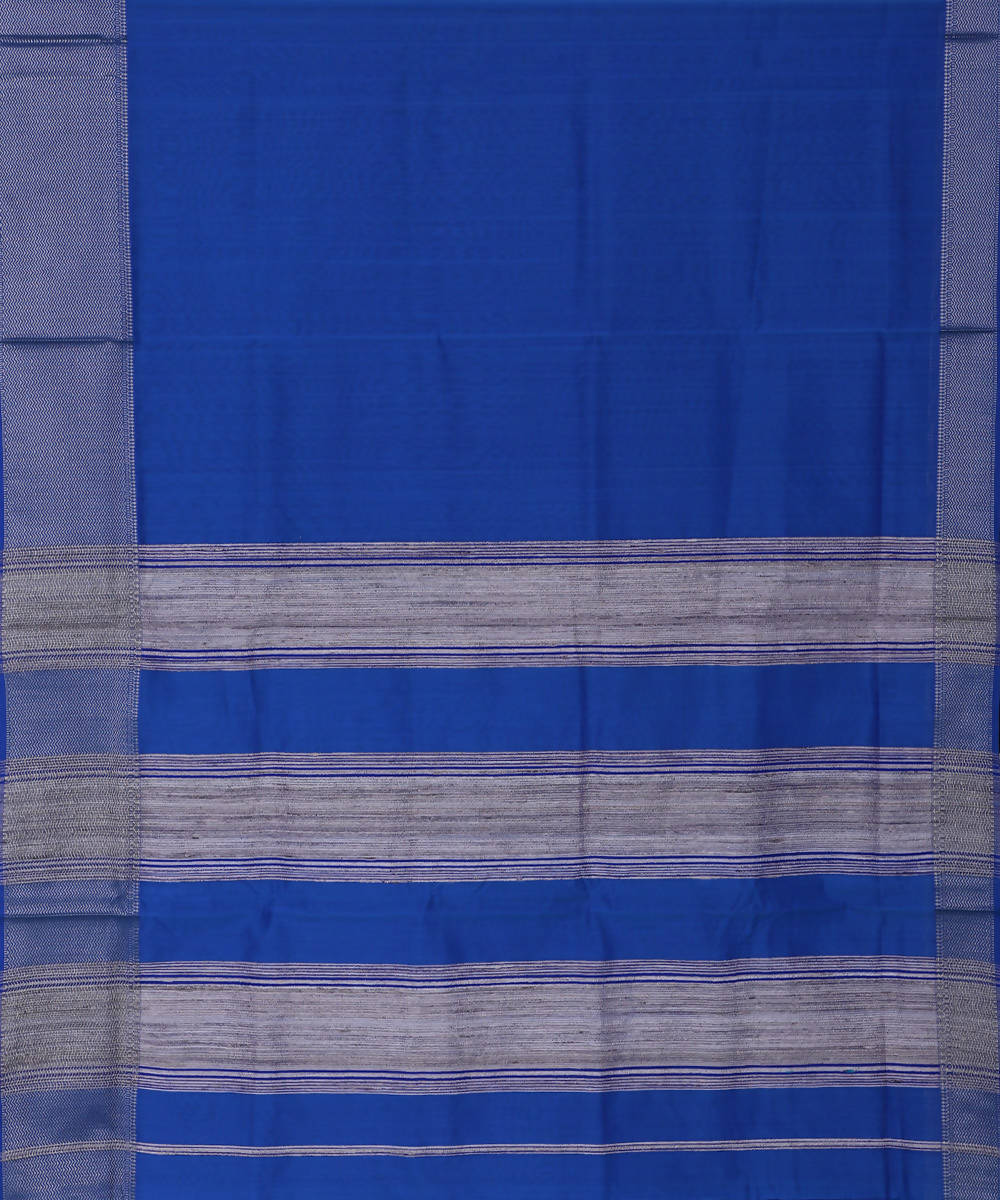 Maheshwari Handloom Sico Royal Blue Saree