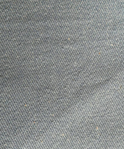 Grey denim handspun handwoven cotton fabric (10m per quantity)