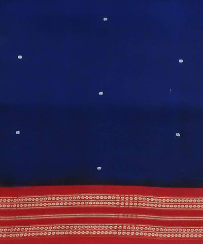Bomkai Blue Handloom Cotton Saree