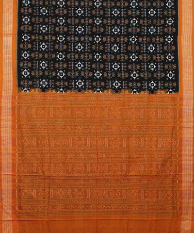 Black Peru Sambalpuri Handloom Cotton Saree