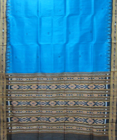 Nuapatna Blue and Black Khandua Silk