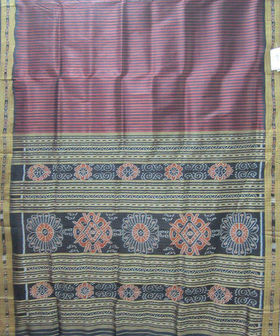 Nuapatna Black and Brown Khandua Silk