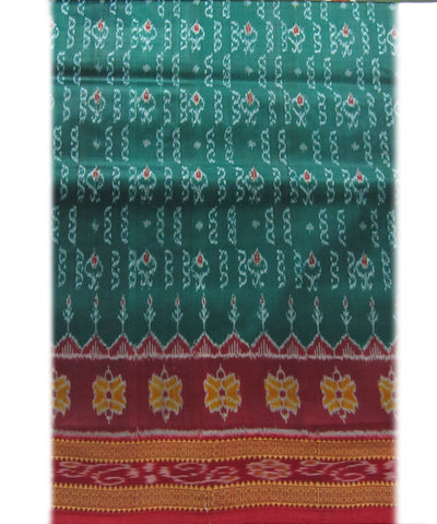 Nuapatna Sea Green and Maroon Khandua Silk