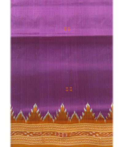 Nuapatna Purple and Orange Khandua Silk