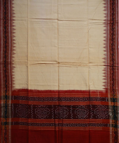 Exclusive Traditional Sandal And Maroon Traditional Ikat tie And dye Cotton Dupatta