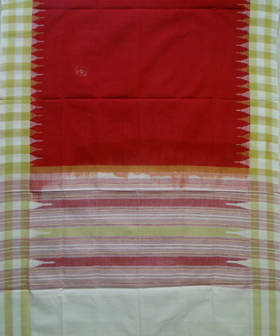Exclusive Traditional Fire Engine Red And off white Phodakumbha Traditional tie And dye Cotton Dupatta
