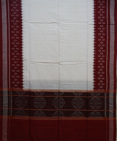 Exclusive Traditional Cream And Maroon traditional Ikat tie And dye Cotton Dupatta