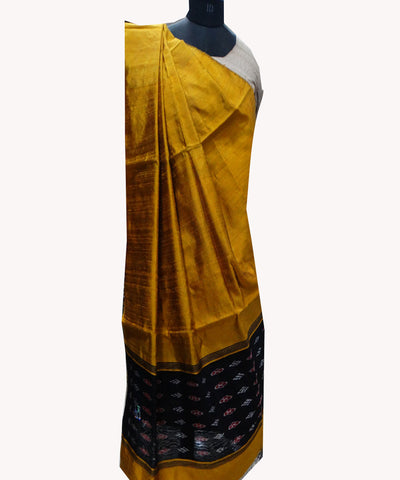 Fluorescent Orange Handloom Dupion Dupatta
