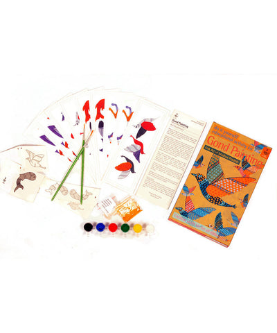 Handmade DIY Educational Colouring Kit Gond Painting of Madhya Pradesh