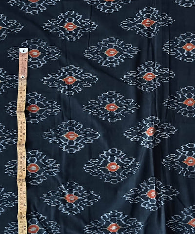 Cotton Black Handwoven Odisha Ikat Fabric